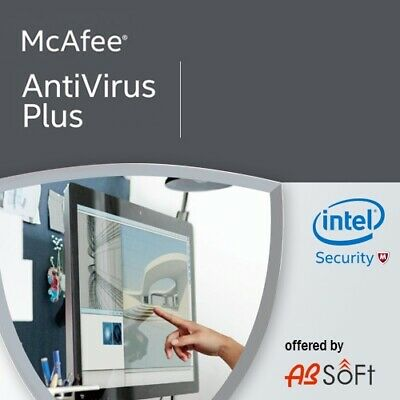 McAfee AntiVirus  Plus 2019 1/ 3 o Ilimitadas Dispositivos 1 año  ES
