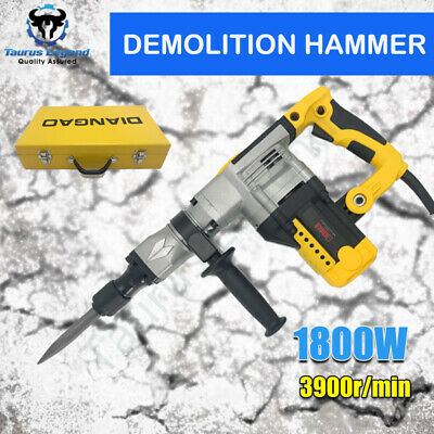 Electric Demolition Jack Hammer Rotary Jackhammer Drill in Steel Case