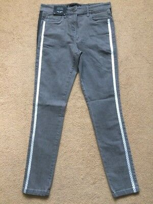 NEXT Women's Grey Mid Rise Highwaisted Superstretch Skinny Fit Jeans, UK8R, £35.