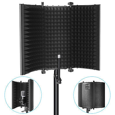 Neewer Foldable Tri-Fold Isolation Microphone Shield  for Recording Equipment