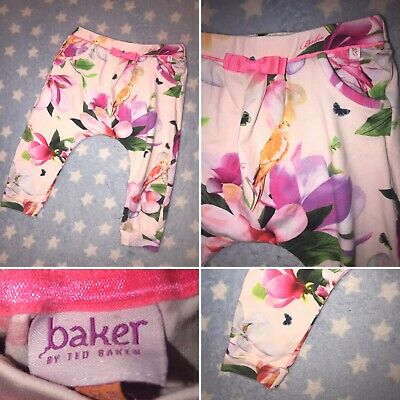 Immaculate Girls Ted Baker Harem Trousers 12-18 Months 💗💗💗