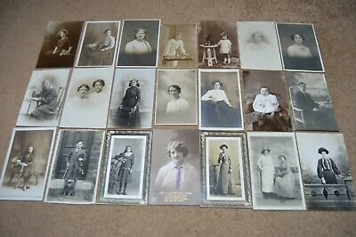 Job lot collection vintage c1900 - 1920 portrait photos