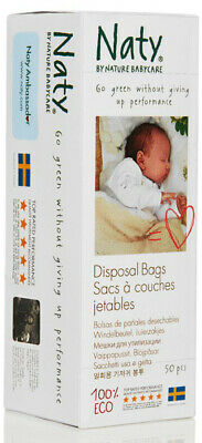 Naty by Nature Babycare Eco Disposal Nappy Bags -15 x Packs of 50-Total 750 Bags