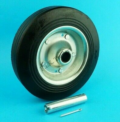200mm Replacement Steel Wheel with Spindle Tube for Trailer Jockey Wheel   #228T