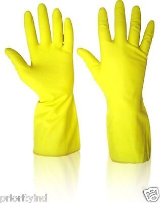 Household Yellow Rubber Gloves
