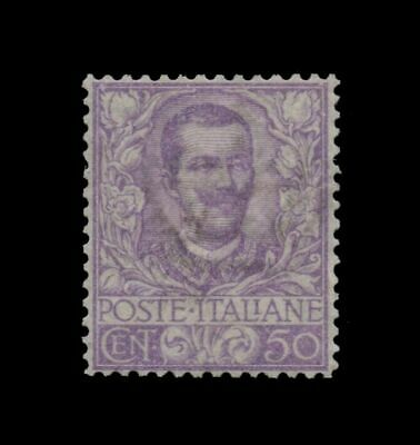 1901 FLOREALE - Cent. 50 NUOVO INTEGRO ** MNH - LUSSO