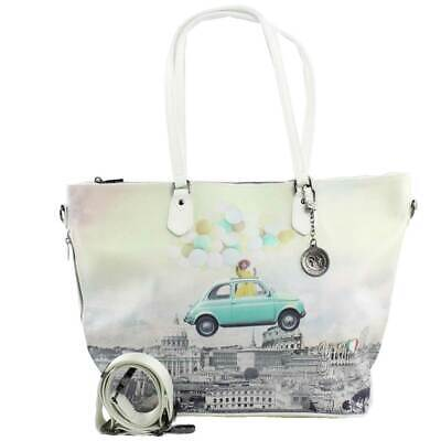 Borsa Donna Y Not? Shopping Bag L Con Tracolla Funny Rome Instant H-397