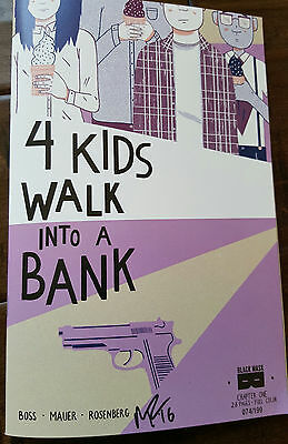 2016 Wondercon Exclusive Black Mask 4 Kids Walk Into A Bank Signed Comic Book