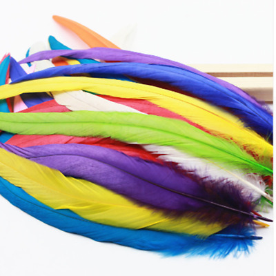"""Wholesale! 20-100pcs beautiful badger saddle rooster feathers """"12-14 inch"""
