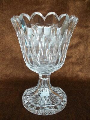 412 / Mid 19Th Century Heavy Hand Blown And Hand Cut Glass Vase.