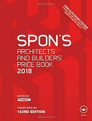 Spons Architects and Builders Price Book 2018 Spons Price Books