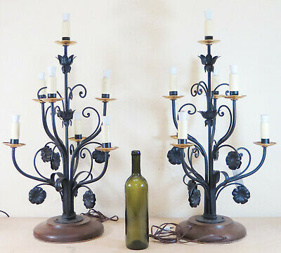 Couple Great Lamps Table Floor Wrought Iron Vintage Handmade