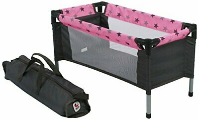 Bayer Chic 200065283Travel Cot with Doll Bed for Dolls Up To 50cm Stars Desi