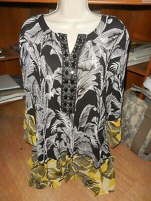 0d95762c02 New Plus Size Top Size 3X Catherines Blouse Black Career Beading 26 28  59