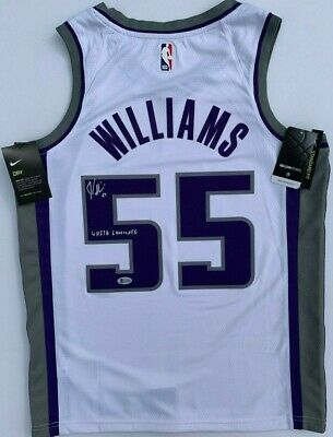 73927d1abad Jason Williams Signed Autographed Sacramento Kings Jersey White Chocolate  Bas