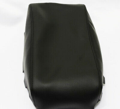 Leather Part Only Fits 2011-2013 Dodge CHARGER Real Black Leather CONSOLE LID ARMREST COVER with Gray stitching.