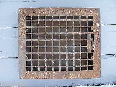 "VTG Cast Iron Mission Arts & Crafts Floor Vent Grate Register 12"" by 14"" OA A"