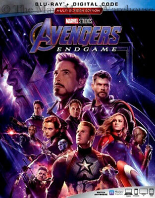 Authentic Marvel Avengers Endgame End Game Blu-ray & Digital Copy Code Pre-Order