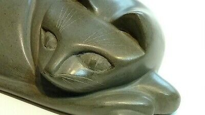 Hand Carved and Polished Stone,  Curious Siamese Cat, Very Nice