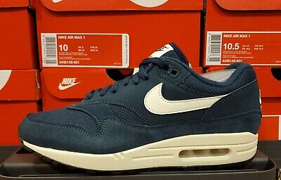 NEW NIKE AIR Max 1 Men's Size 9 Armory Navy Sail Off White