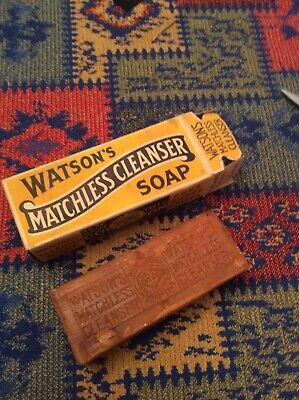 Watsons Matchless Cleaner Soap & Box 1930s