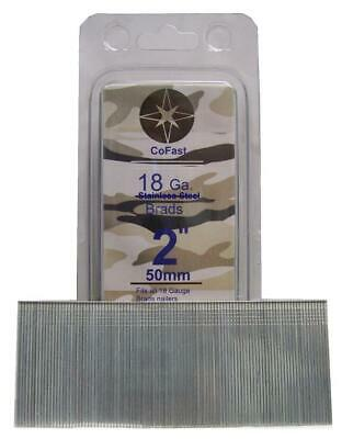 CoFast 18 Ga Stainless Steel Straight Finish Nails in a Sturdy Plastic Pouch