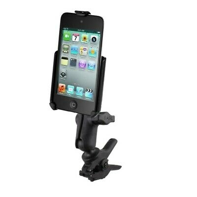 Small Tough-Clamp Motorcycle Bike Mount Kit fits Apple iPod touch 4th Generation