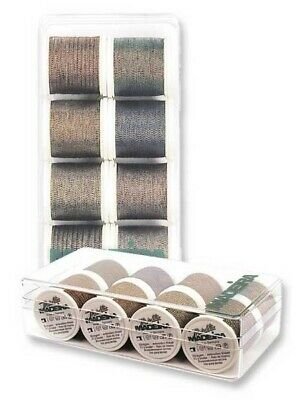 Madeira 8011 | Assorted Metallic Soft Shades Machine Embroidery Thread 200m x 8