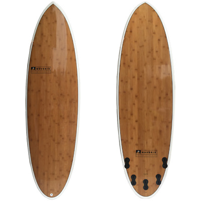 Surfboard,funshape,shortboard 6'0 Bamboo Brand New with 5 fins