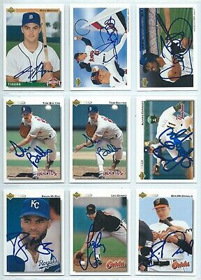1992 Upper Deck baseball cards, autographed; YOU PICK to fill sets; signed