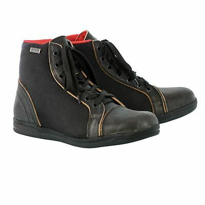 Oxford Jericho Motorcycle Motorbike Leather Waterproof Boots - Stealth Black