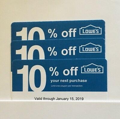 3-Lowe's Blue Card 10% Off For Home Depot+Other Comp Not Lowe's  Exp 06/15/19