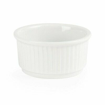 Olympia W421 Whiteware Stacking Ramekin, White Pack of 12