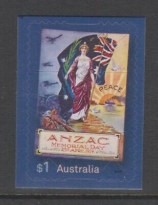 Australia 2019 Anzac Day mint unhinged booklet stamp.