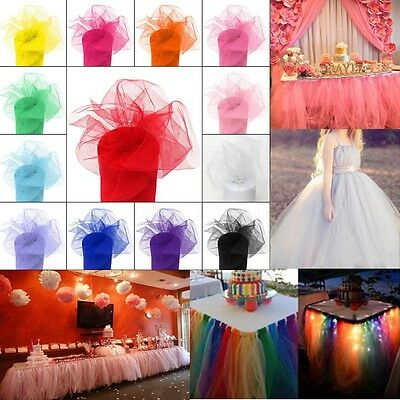Multi-Color TULLE Roll Spool Gift Wrap Craft Bow Wedding Party Decor 15cm