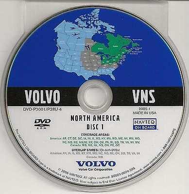 2002 2003 2004 2005 2006 Volvo XC90 S80 Navigation DVD Map Midwest & Northeast