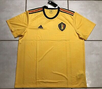 b53dacdb2c6 BRAND NEW OFFICIAL Adidas Belgium 2018 Away Jersey BQ4536 Men's Size ...