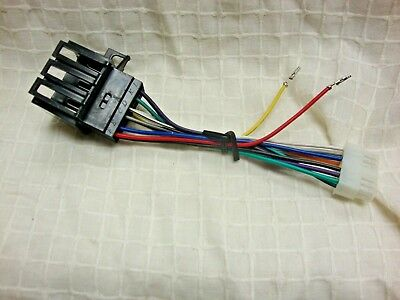 wire harness adapter for pioneer old school deh-40dh etc stereo to gm chevy