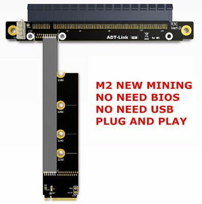 Riser PCIE 3.0 x16 To M2 NGFF NVMe SSD mining graphics card extension cable Gen3