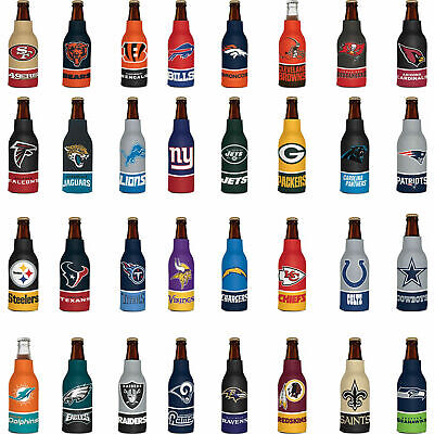 Insulated 12 oz. Football Beer Bottle Cooler Holder Koozie Zip-Up Koozie