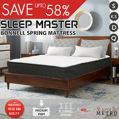 New Sleep Master Bonnell Spring Queen Double King Single Mattress
