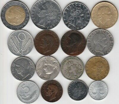 16 different world coins from ITALY