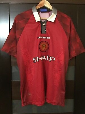 Manchester United 1996/1997/1998 Home  Football Shirt Jersey Rare Vintage