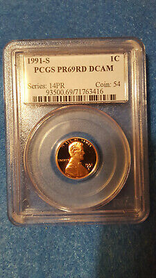 1991-S Lincoln Cent Proof 69 Red DCAM – PCGS #71763416