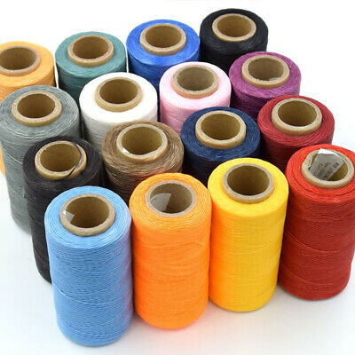 260m 1MM Leather Sewing Waxed Thread For DIY Chisel Awl Upholstery Shoes Luggage
