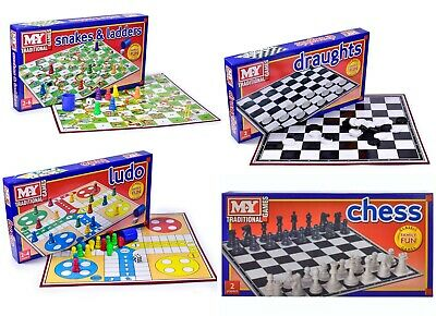 M.Y. Traditional Classic Kids Board Games Ludo/ Snake & Ladder / Draught / Chess
