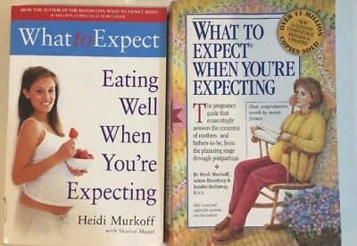 Bundle Of 2 Murkoff Pregnancy Books What to expect when expecting/ Eating well