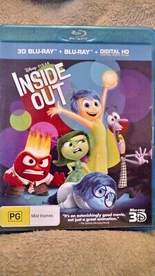 Inside Out (3D Blu-ray/2D Blu-ray) 2 DISC SET  Region Free NEW/UNSEALED