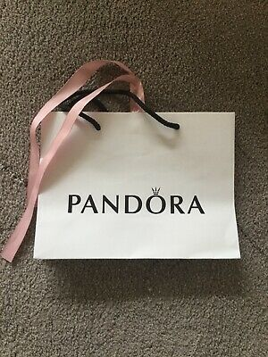 GENUINE PANDORA Gift Bag With Ribbon Large Size --16cm X 21.5cm