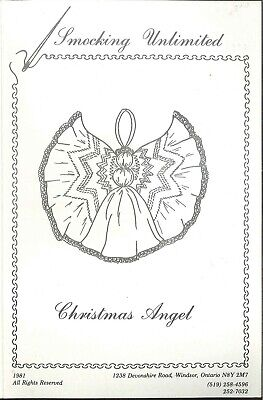 Christmas Angel Ornament Smocking Pattern 1981 Smocking Unlimited